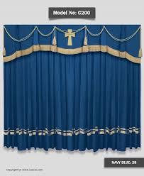 Church Curtains Church C200 Navy Blue Jpg