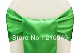 chair tie backs green sashes promotion shop for promotional green