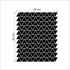 Decoration Geometric Wall Decals Home by Geometric Triangles Wall Stickers Home Decor Bedroom Diy Wall