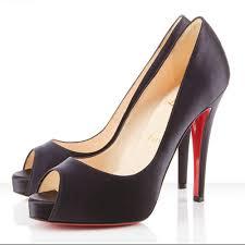satin peep toe pumps platform black high heel shoes custom made