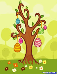 how to draw an easter egg tree step by step easter seasonal
