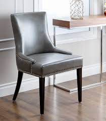 Leather Dining Chair Dining Chairs Newport Leather Dining Chair Grey