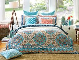 reminiscent of turkish tile patterns the bosphorus quilt cover