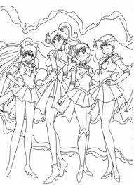 sailor moon free coloring pages cartoon characters kids