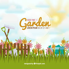 idyllic garden background vector free download
