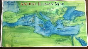 Roman Map Tutorial Making Ancient Roman Maps With Watercolor Pencils Youtube