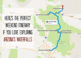 Arizona travel itinerary images The perfect weekend itinerary to explore arizona 39 s waterfalls jpg