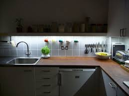kitchen counter lighting ideas charming led rope lights kitchen cabinets come with white