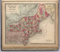 New York And New Jersey Map by Atlas Of The United States New England New York And New Jersey