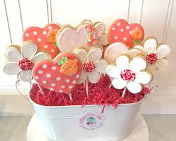 cookie bouquet cookie bouquet of hearts and flowers 3 sweet cakery