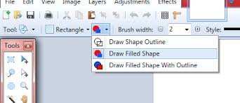 rectangle or square no outline paint net discussion and