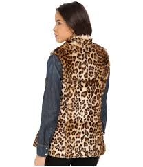 Double D Ranch Clothing Double D Ranchwear Leopardos Vest In Brown Lyst