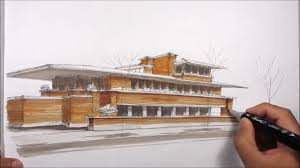 architectural sketching robie house youtube
