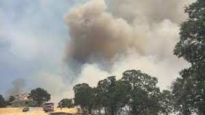 Vacaville Wildfire Map by Cal Fire Crews Battling Fire Near Valley Springs Evacuations In