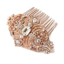 the etta deco gold hair comb sweet details