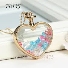 bottle necklace images Tdiyj wholesale heart shape locket necklace lucky stars glass jpg