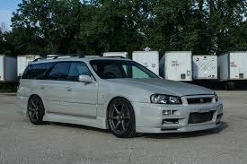 skyline nissan r34 nissan stagea r34 gt r wagon will make you the coolest kid on the