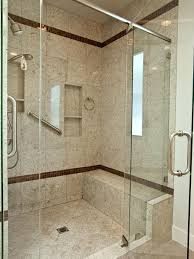 Walk In Showers by Walk In Shower With Wall Niches And Seat Walk In Bathroom Shower