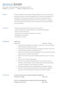 exle for resume cabin crew resume exle exles of resumes