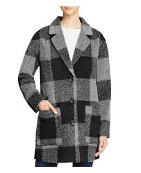 levi s oversized boyfriend plaid coat in gray lyst
