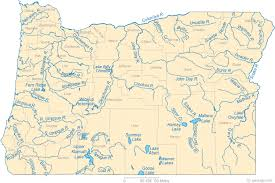 map of oregon state map of oregon