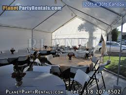 table and chair rentals prices canopy 20ftx30ft canopy rentals rental rates partyrentals vannuys