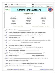 differentiated video worksheet quiz u0026 ans for bill nye comets