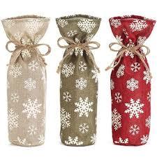 wine bottle gift bags snowflake wine bottle gift bags 3 pc set ellisi gifts