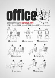 exercises to do at your desk a full body workout you can do in your office chair infographic