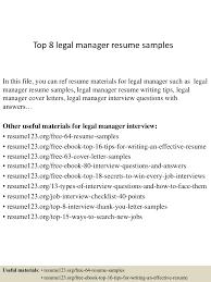 sample resume for attorney top8legalmanagerresumesamples 150410093906 conversion gate01 thumbnail 4 jpg cb 1428676790