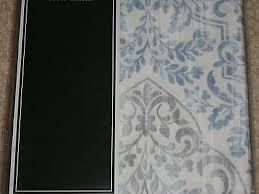 Blue Damask Shower Curtain Winchester Blue Gray White Damask Shower Curtain New
