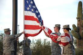 Soldier With Flag Airmen Partner With Veterans For A Retreat Ceremony U003e Air Combat