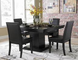 dining room luxurious black dining room sets with cushioned dining room appealing classic style black dining room sets with five pieces including flower rug