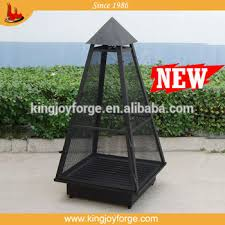 Outdoor Metal Fireplaces - pyramid black outdoor metal steel wood burning fireplace buy