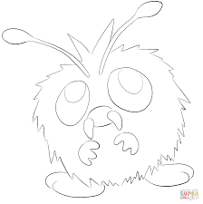 venonat coloring page free printable coloring pages