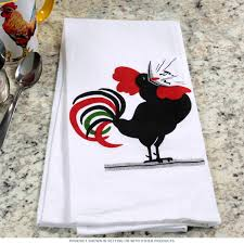 kitchen glamorous rooster country style tea towel kitchen decor