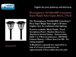 Solar Lights For Driveway by Outdoor Solar Lights For Path And Driveways Youtube