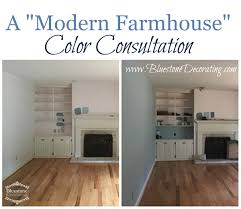 before and after modern farmhouse color consultation bluestone