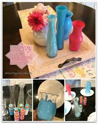 boring clear glass vases to colorful home decor with a little