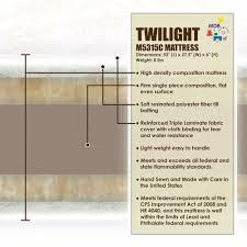 Mini Crib Mattress Size by Davinci Twilight 6 In Ultra Firm Deluxe Crib Mattress M5315c