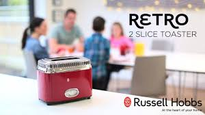 Toaster Retro Russell Hobbs Ribbon Red Retro 2 Slice Toaster 21680 56 Youtube