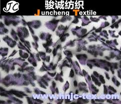 plush velboa fabric printed knitted fleece fabric animal pictures