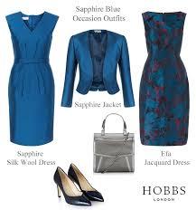 hobbs sapphire blue dress and matching jacket