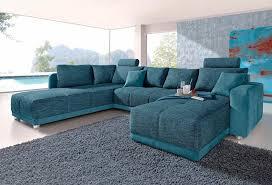 sofa mit federkern places of style wohnlandschaft mit federkern und bettfunktion