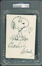 lot detail peanuts charles schulz superb hand drawn u0026 signed