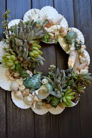 seashell wreath succulent wreath with authentic sea shells just the thing to add
