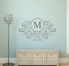 personalised family name monogram decal