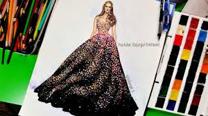 how to paint fashion illustration for beginners sparkly glitter