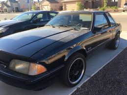 Black Fox Body Mustang 93 Mustang Coupe Foxbody 5 0 Black On Black For Sale Ford
