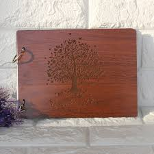engravable wedding guest book engraved wooden wedding guest book personalized wedding guestbook